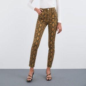 Zara Python Print Jeans
